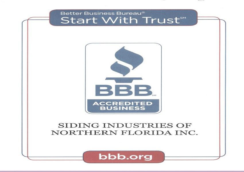 Siding Industries Jacksonville Certification BBB SI
