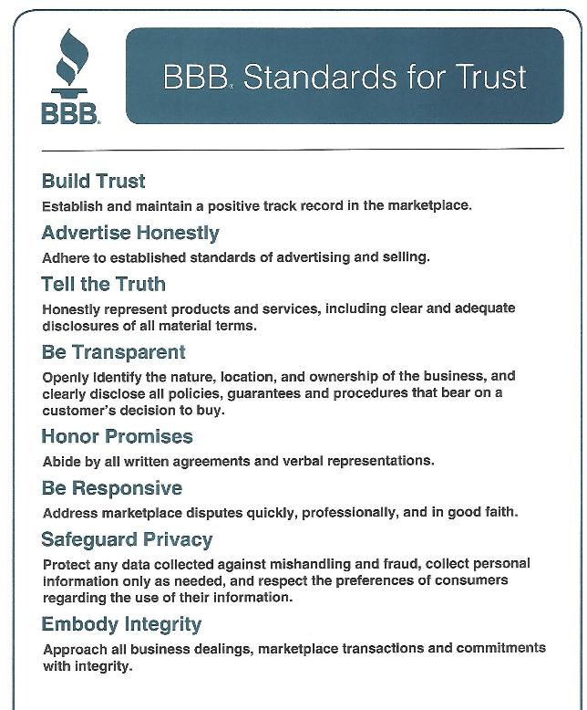BBB Standards 2019 – 2020